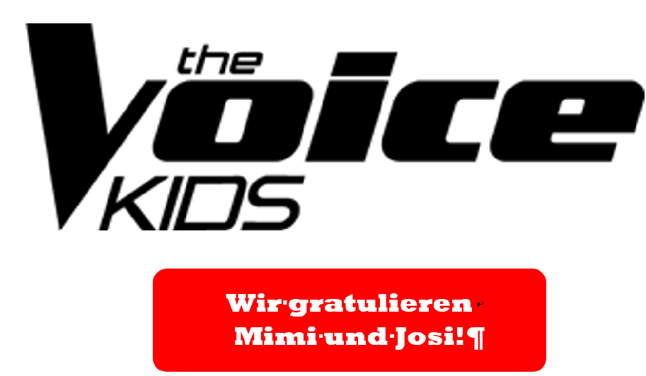 """bccc7ccf0bbcf Sie gewinnen tatsächlich das Finale der Casting-Show """"The Voice Kids 2019""""  • Die Mädchen kommen beide aus der Maria-Ward-Realschule ..."""